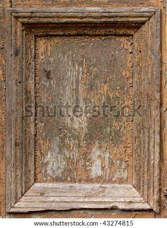 Wood damaged frame - stock photo
