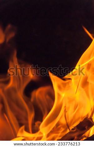 Wood Fire Flame III - stock photo