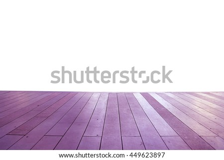 Wood floor texture in light color tone isolated on white background. nature good Perspective warm wooden floor texture. Empty room with wall and wooden floor. Art Wood Design Element Painted 6 - stock photo