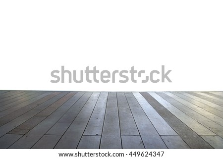Wood floor texture in light color tone isolated on white background. nature good Perspective warm wooden floor texture. Empty room with wall and wooden floor. Art Wood Design Element Painted 15 - stock photo