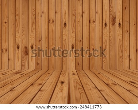 wood flooring and wall  - stock photo