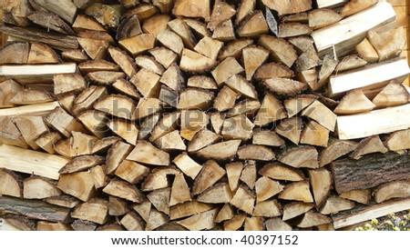 wood for fire - stock photo