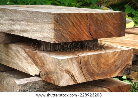 Wood for industrial - stock photo