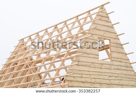 Roof trusses stock photos images pictures shutterstock for House framing 101