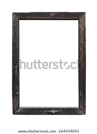 Wood frame isolated on a white background - stock photo