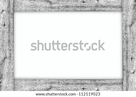Wood frame on white isolate background - stock photo