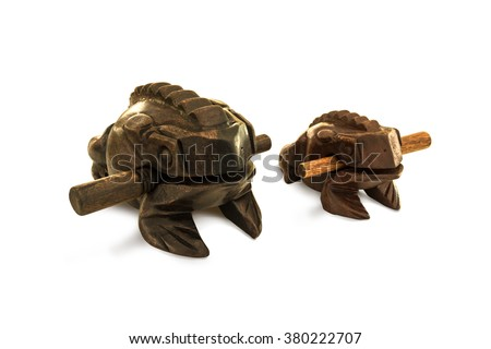 Wood frogs do this may sound like a frog's natural sweetness inspired by nature. Used for display or for decoration of your home, which gives a charming and magical. - stock photo