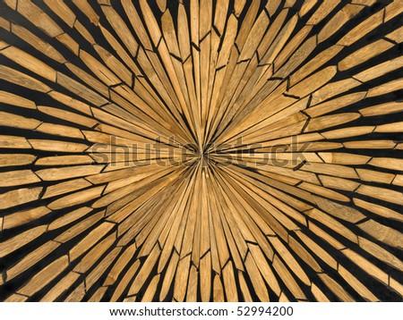 Wood inlay - stock photo