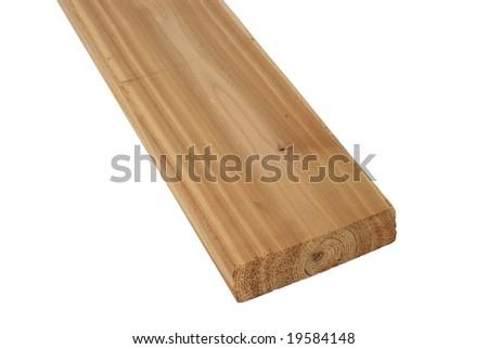 Wood lumber boards isolated - stock photo