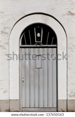 wood old door.  Old Wooden Door. - stock photo