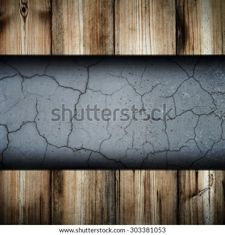 wood on wall  background - stock photo