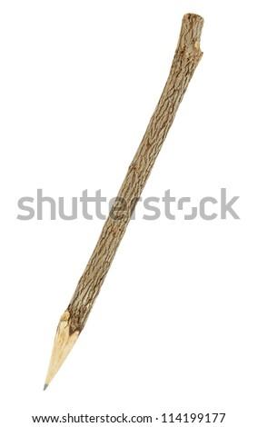 Wood pencil isolated on white background - stock photo