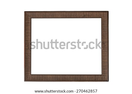 Wood Picture Frame - stock photo
