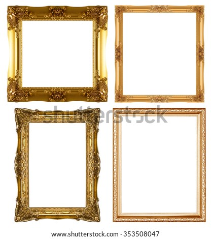 wood  picture frame isolated on a white background. - stock photo