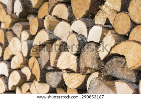 Wood pile, stack - stock photo