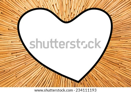 Wood plank brown picture frame   - stock photo