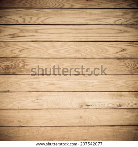 Wood plank brown wall texture background - stock photo
