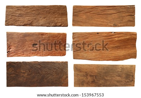 Wood plank, isolated on white background (Save Paths For design work) - stock photo