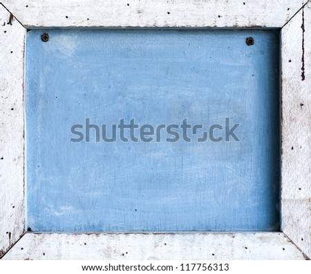 Wood plank made to frame - stock photo