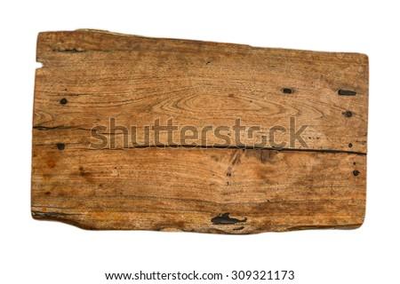 wood plank on white background - stock photo