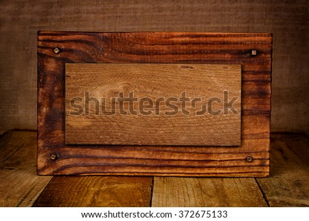 Wood plate with place for your text - stock photo