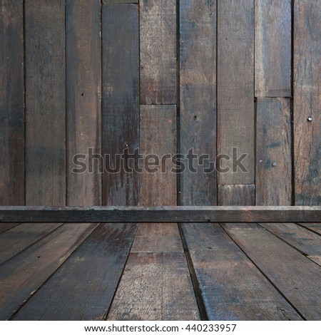 Wood room for background and text - stock photo