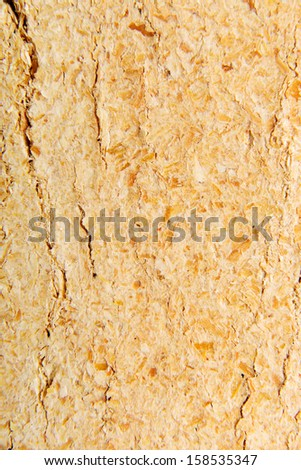 Wood sawdust briquettes texture , isolated on white - stock photo