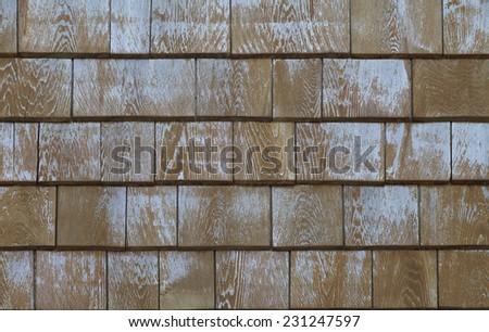 Wood shingles - stock photo