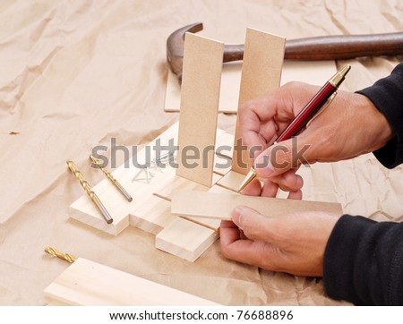 Wood Shop Project - stock photo