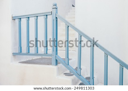 Wood staircase - stock photo