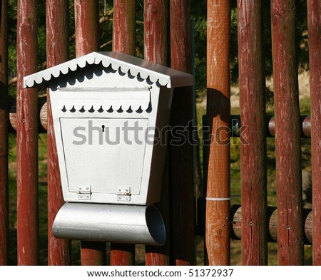 wood texture and letter box - stock photo
