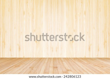 Wood texture background of floor and wall - stock photo
