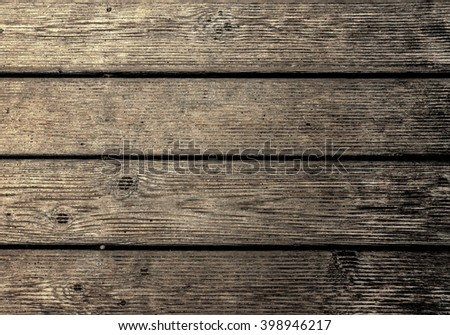 Wood Texture Background, Old Floor Striped Planks,  Wooden Board  - stock photo