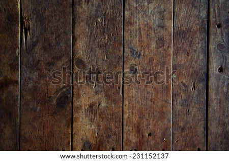 Wood texture background old panels with vintage filter - stock photo