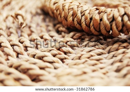 Wood texture of a wicker basket - stock photo