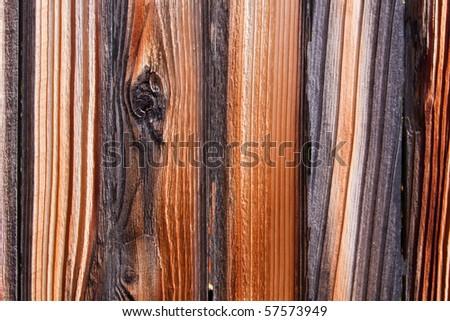 Wood Texture of Aged Fence Grunge Background - stock photo