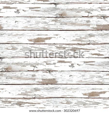 wood texture, peeling white paint, grunge seamless background - stock photo