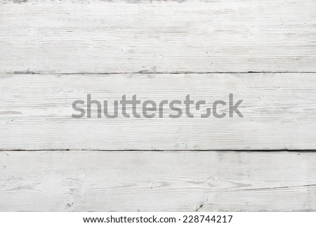 Wood Texture, White Wooden Grunge Background, Old Planks, Wall Of Boards With Grains And Fibers - stock photo