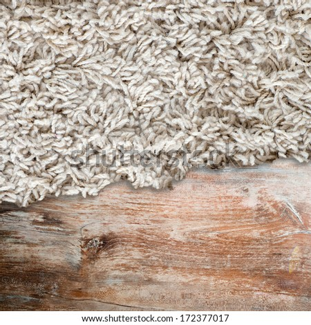 Wood texture with carpet , effect  - stock photo