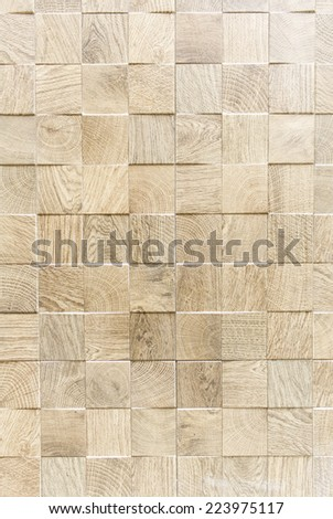 Wood tiles inside urban building, construction - stock photo