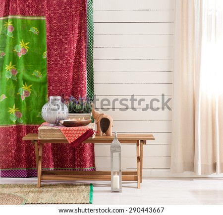 wood wall interior style  - stock photo