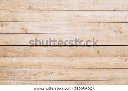 Wood wall plank texture and background - stock photo