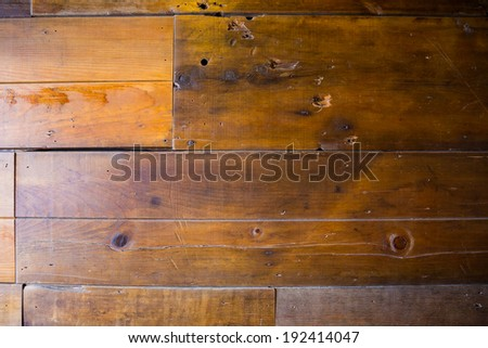 Wood wall texture made out of reclaimed recycled lumber from a wooden barn. - stock photo