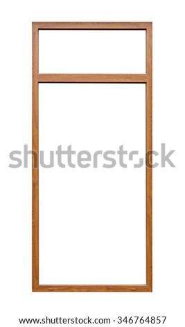 Wood window frame isolated on white.  - stock photo