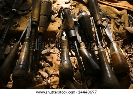 Woodcarver's Tools - stock photo