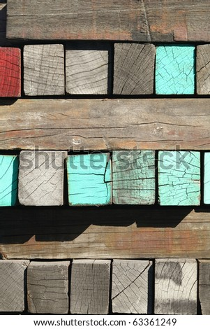 wooded board - stock photo