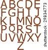 Wooden alphabet - stock photo