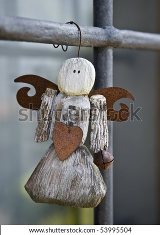 wooden angel - stock photo