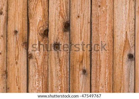 Wooden background (boards with knots) - stock photo