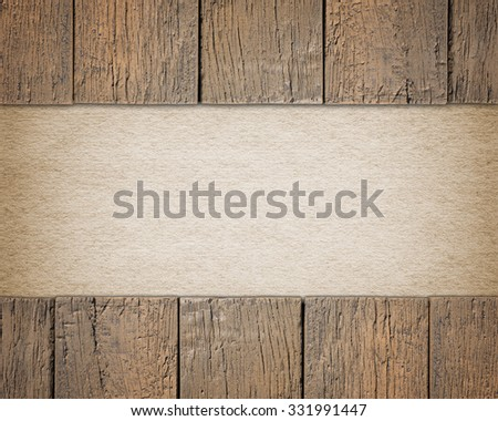 Wooden background with empty text space made of old paper - stock photo